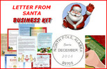 Thumbnail Letter from santa claus business kit
