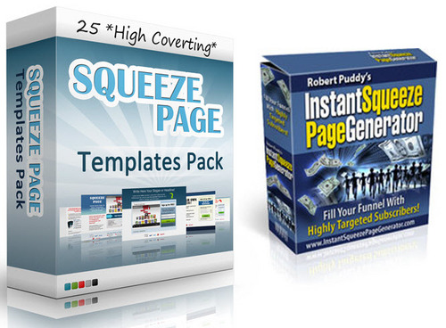 Pay for 25 Squeeze Pages and  Squeze Page Maker