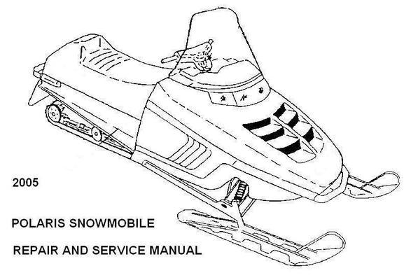 polaris snowmobile 2005 repair service manual rmk switchback