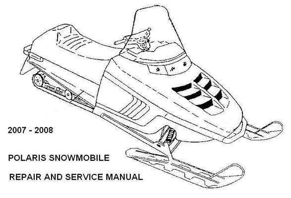 polaris snowmobile 2007 2008 repair service manual iq rmk sb