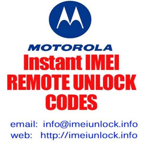 Pay for Motorola E770v Unlock Code