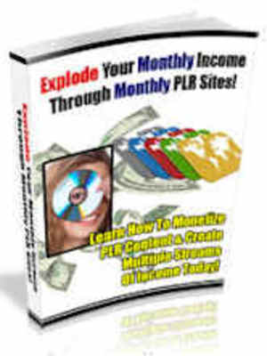 Pay for Explode Your Monthly Income through Monthly PLR Sites
