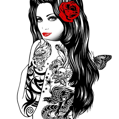 Pay for 490 Full Color Tattoo Designs