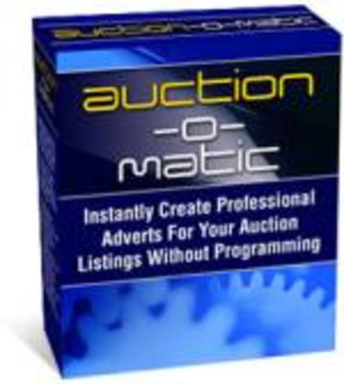Pay for Auction-O-Matic Create Ebay Templates