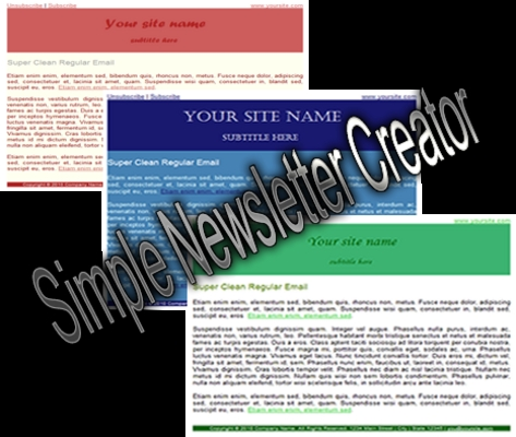 Pay for Simple Newsletter Creator