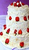 Thumbnail White wedding cake with strawberries