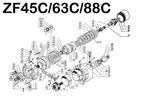 Thumbnail ZF 45C 63C 88C MARINE TRANSMISSION REPAIR & PARTS MANUAL