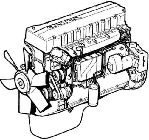 fan belt diagram for volvo engine