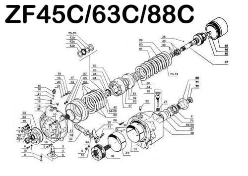 pay for zf 45c 63c 88c marine transmission repair & parts manual