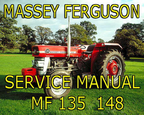Pay for Massey Ferguson MF 135 MF148 MF-148 135 Tractor Workshop Service Manual