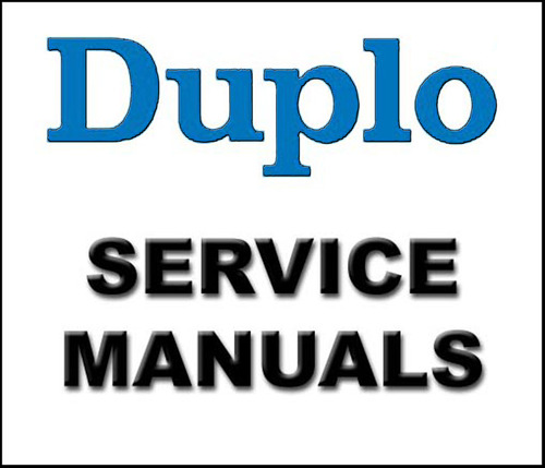 Pay for Duplo Equipment Service Repair Manual Parts Catalog User Guide Maintenance Manuals (ISO) - DOWNLOAD