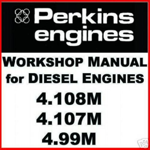 Perkins 4 108m 4 107m 4 99m Diesel Engine Service Manual Repair P
