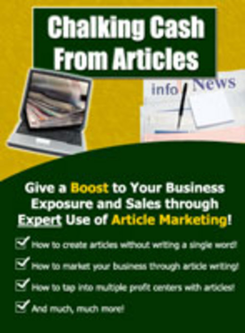 Pay for Chalking Cash From Articles -  Boost Your Marketing Profits