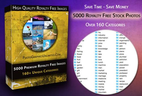 Pay for 5000 Premium Royalty FREE Stock Photos + Bonus ToolBox