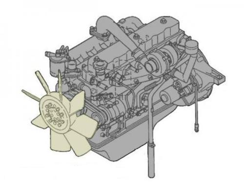 DAEWOO DOOSAN DB58, DB58T & DB58TI DIESEL ENGINE SERVICE REPAIR MANUAL