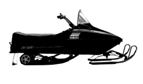 1980 Yamaha SRX440D Snowmobile Service Repair Manual Download