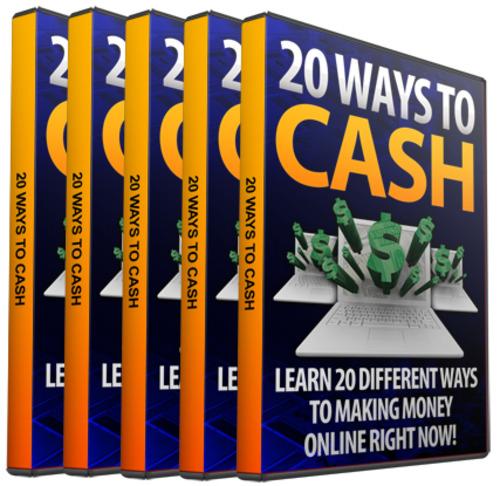 Pay for 20 Ways To Cash In Online Video Tutorials w MRR
