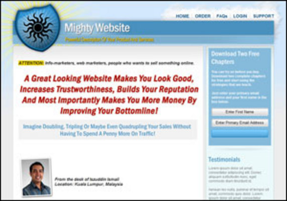 Pay for Mighty Minisite Template Website Design System w PR