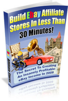 Pay for NEW!! Build eBay Affiliate Stores in Less Than 30 Minutes