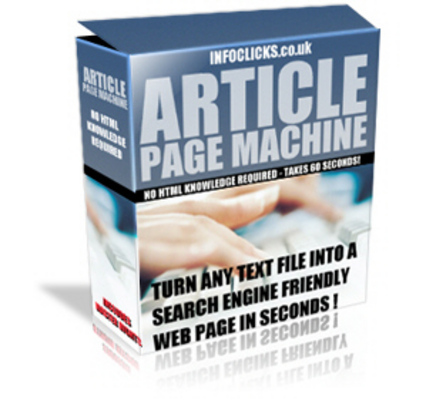 Pay for Article Page Machine + Article + Software
