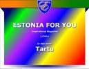 Thumbnail Estonia For You #1 --- pdf-Mag