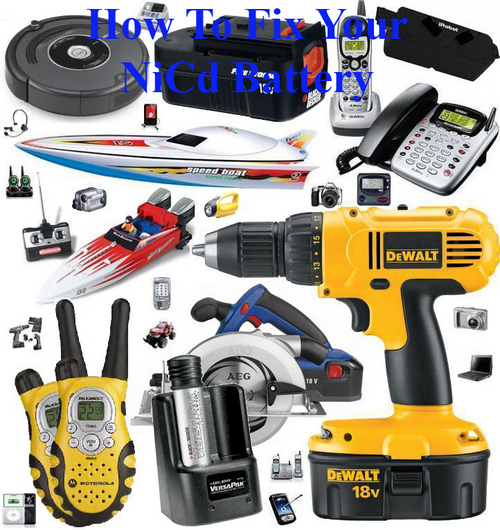 Pay for How To Fix NiCd Battery. Repair Tool Batteries DIY Guide