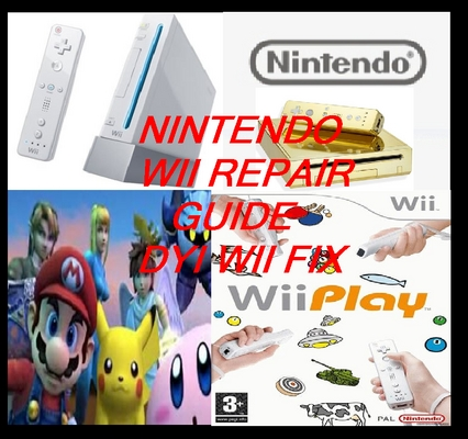 Pay for Wii repair guide. Nintendo wii console manual