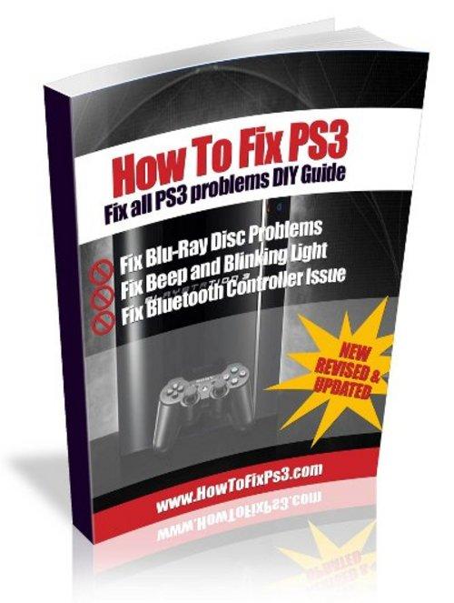 Pay for DIY playstation 3 repair guide.sony ps 3 video/display error repair diy fix