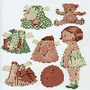 Thumbnail 21 pages of Vintage paper dolls