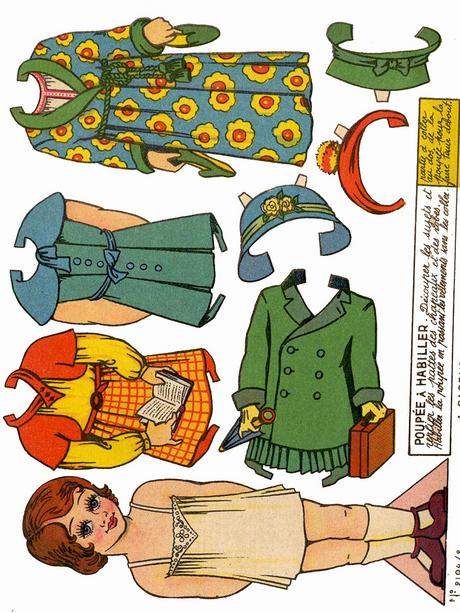 Pay for 21 pages of Vintage paper dolls