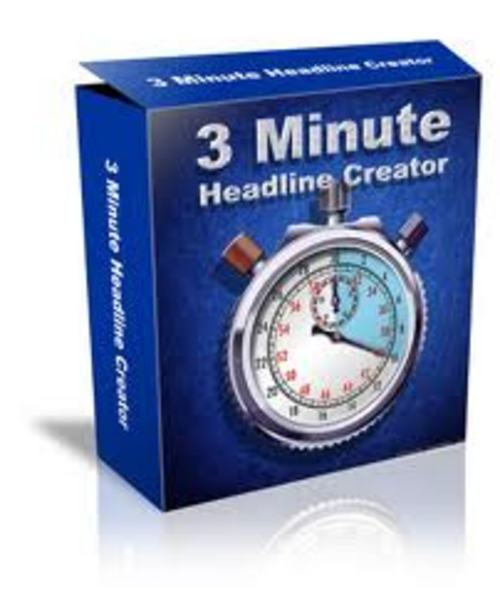Pay for 3 Minute Headline Creator