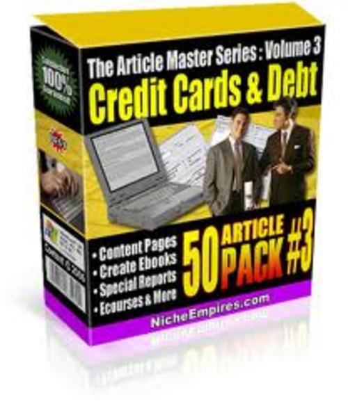Pay for 50 Articles on Credit Card & Credit Card Debt - No Restriction Private Label Rights included!