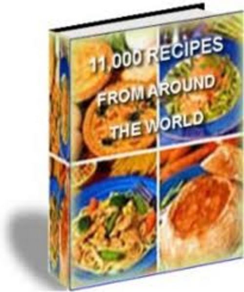 Pay for 11000 RECIPES ** Ultimate Cookbook eBook ** w/ RESELL RIGHTS!