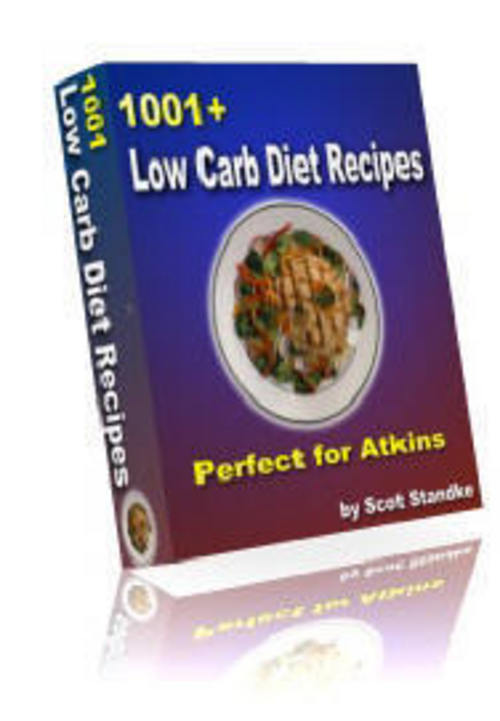 Pay for 1001+ LOW CARB RECIPES ATKINS DIET GI DIET WEIGHT LOSS COOKBOOK WITH RESELL RIGHTS!!!