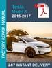 Thumbnail Tesla Model X 2015-2017 service workshop repair manual