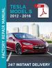 Thumbnail Tesla Model S 2012-2017 service workshop repair manual