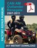 Thumbnail 2007-2011 ATV Can-Am 500 650 800 Service Workshop manual