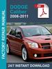 Thumbnail Dodge Caliber 2007-2011 service workshop repair manual