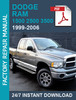 Thumbnail DODGE RAM & SRT 1999-2006 service workshop repair manual