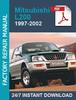 Thumbnail Mitsubishi L200 1997-2002 Service Workshop Repair manual