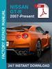 Thumbnail NISSAN GT-R GTR R35 2007-2018 service workshop repair manual