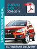 Thumbnail Suzuki SX4 2006-2014 WORKSHOP SERVICE WORKSHOP REPAIR MANUAL