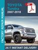 Thumbnail Toyota Tundra 2007-2018 Workshop Service Repair manual