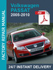 Thumbnail VW Passat B6 2005-2010 3C 3C2 3C5 service workshop manual