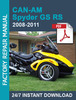 Thumbnail CAN-AM SPYDER GS RS 2008 2009 2010 2011 FACTORY WORKSHOP SER