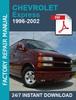 Thumbnail CHEVROLET EXPRESS 1996 1997 1998 1999 2000 2001 2002 SERVICE