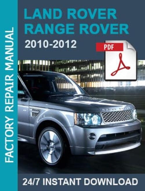 Land Rover Range Rover 2010 2011 2012 Workshop Manual