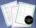 Thumbnail Baby Shower Planning Sheets Set of 3 Colors