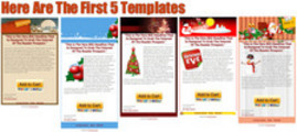 Thumbnail 10 Christmas Theme Facebook Fan Page Templates with PLR