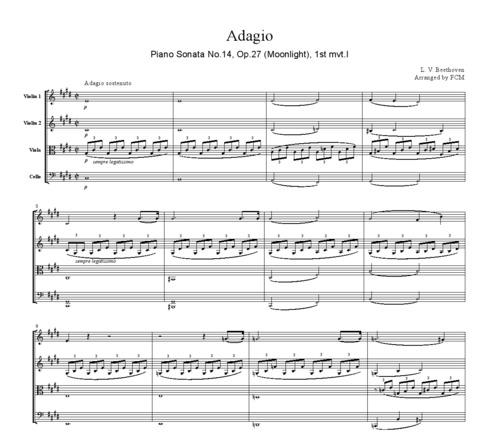 Beethoven Piano Sonata No.14, Op.27(Moonlight), 1st Mvt